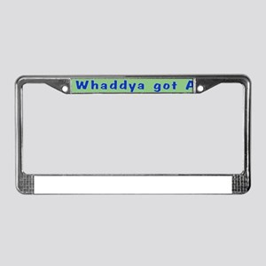 NCIS: Whaddya Got Abs? License Plate Frame